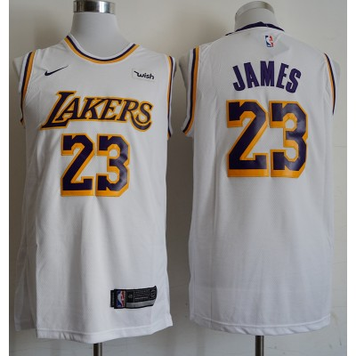 LeBron James Los Angeles Lakers 2019 White Jersey