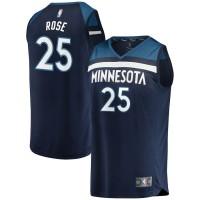 Derrick Rose Minnesota Timberwolves Navy Blue Jersey