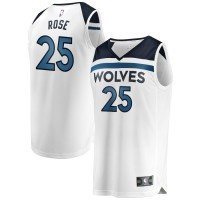 Derrick Rose Minnesota Timberwolves White Jersey