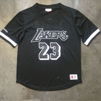 LeBron James Los Angeles Lakers Black Mitchell & Ness Sleeved Jersey - Super AAA Quality