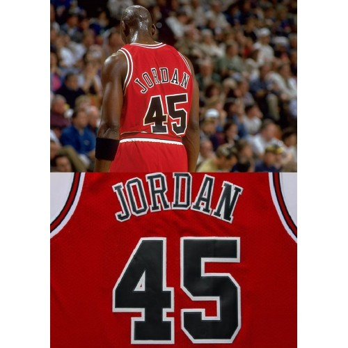 michael jordan jersey number 45