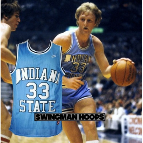 huge discount 1bf22 be09f Larry Bird Indiana State NCAA Jersey