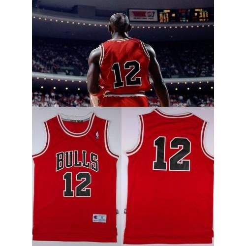 2441546ff93 Michael Jordan Number 12 Chicago Bulls Red Jersey